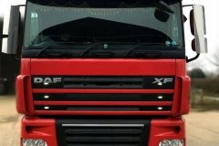 Beaumount - daf ub bar roof and visor bar stainless mirrorgds